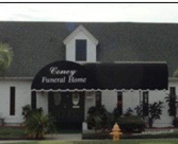 Exterior shot of Coney Funeral Home