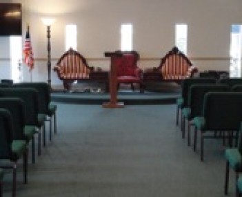 Interior shot of Coney Funeral Home