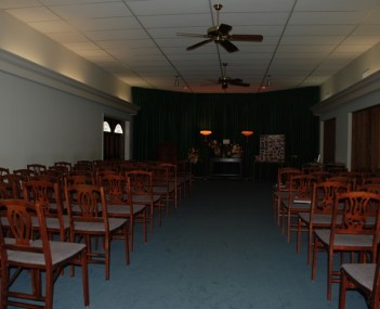 Interior shot of Ewing Funeral Home