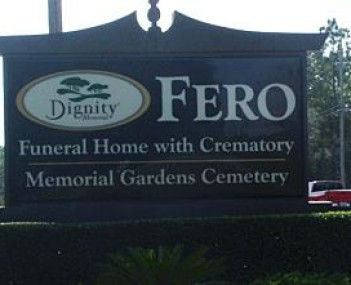 Exterior shot of Fero Memorial Gardens Cemetery