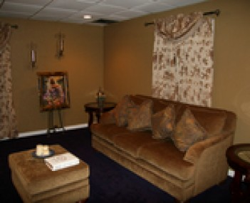 Interior shot of Saints Funeral Home Incorporated