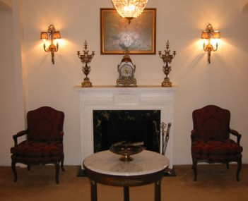 Interior shot of August J Haas Funeral Home Incorporated
