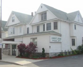 Exterior shot of August J Haas Funeral Home Incorporated