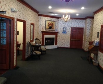 Interior shot of David Family Funeral Home