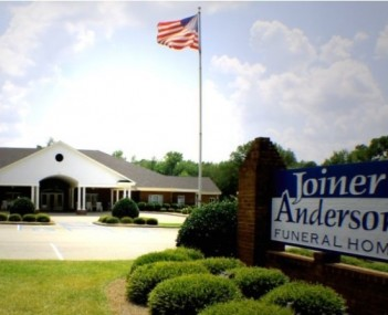 Exterior shot of Joiner-Anderson Funeral Home