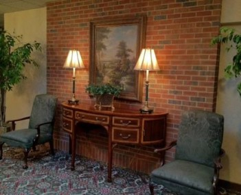 Interior shot of Crowell Brothers Funeral Home