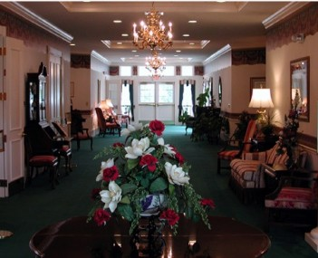 Interior shot of Colonial Funeral Home (owned by McMullen Funeral Home)