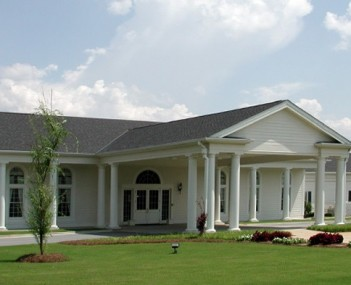 Exterior shot of Colonial Funeral Home (owned by McMullen Funeral Home)