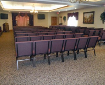 Interior shot of Thielen Funeral home
