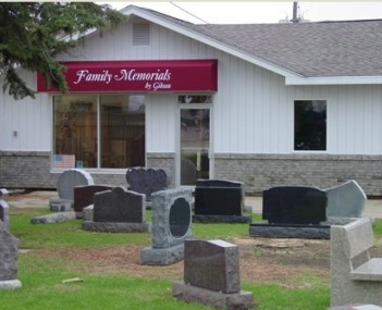 Exterior shot of Family Memorials by Gibson