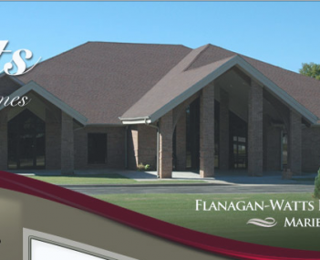 Exterior shot of Flanagan-Watts Funeral Home