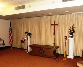 Interior shot of Honaker Funeral Home