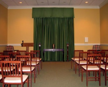 Interior shot of Cremation Society of Virginia