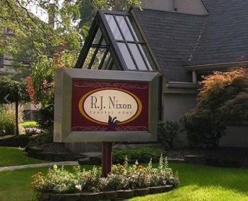 Exterior shot of Rj Nixon Funeral Home