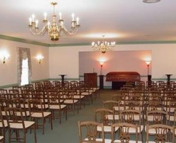 Interior shot of Doughty Funeral Home
