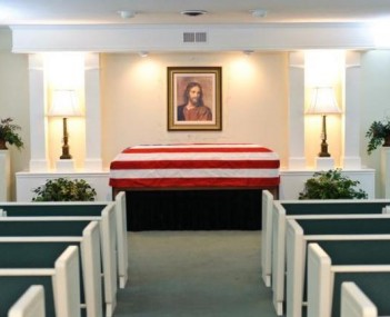 Interior shot of Oakley Blevins Funeral Home