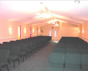 Interior shot of Lea & Pope Funeral Home