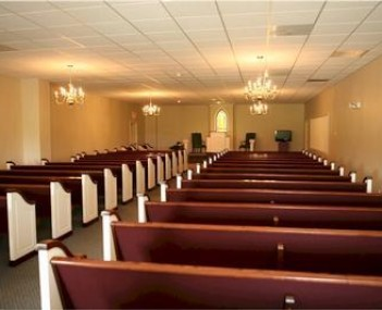 Interior shot of Miller Funeral Home