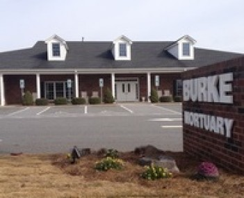 Exterior shot of Burke Mortuary