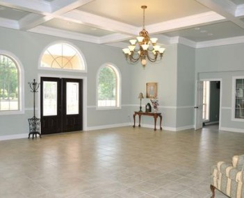 Interior shot of Adams Funeral Home