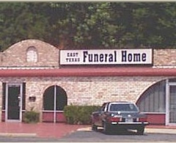 Exterior shot of East Texas Funeral Home