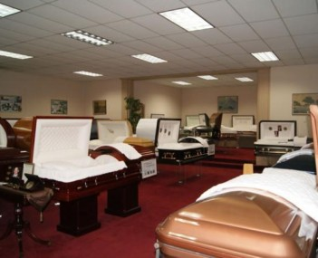 Interior shot of Welch Ryce Haider Funeral Chapels