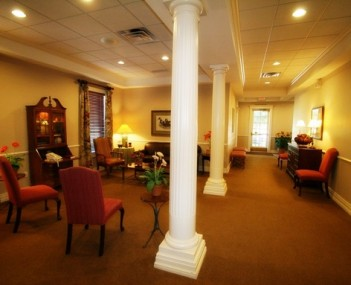 Interior shot of Hampton Vaughan Funeral Home