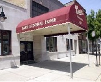 Exterior shot of Barr Funeral Home