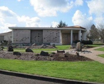 Exterior shot of Mountain View Cemetery