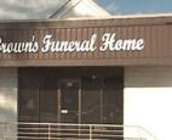 Exterior shot of Brown's Funeral Home
