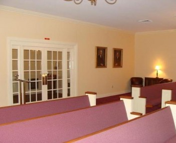 Interior shot of Tw Crow & Son Funeral Home