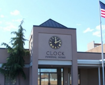 Exterior shot of Clock Funeral Home