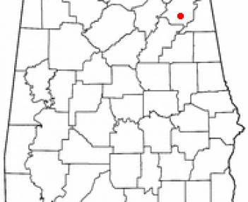 Location in Alabama