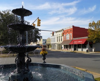 The MacMonnies Fountain in downtown Eufaula.