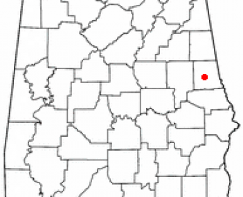 Location of La Fayette, Alabama