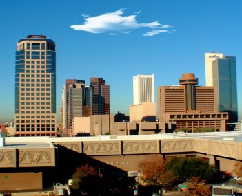 Phoenix skyline Arizona USA