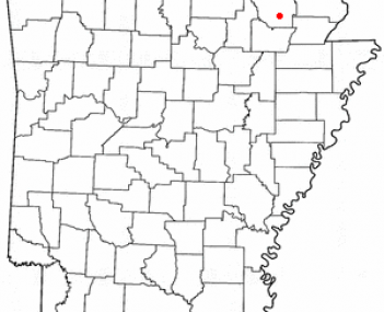 Location of Pocahontas, Arkansas