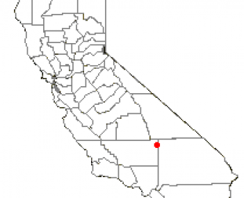 Location of Ridgecrest, California