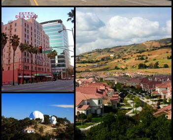 Images, from top down, left to right: Downtown San Jose, Hotel De Anza, East San Jose suburbs, Lick Observatory, Plaza de César Chávez