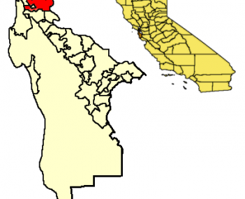 Location of South San Francisco within San Mateo County