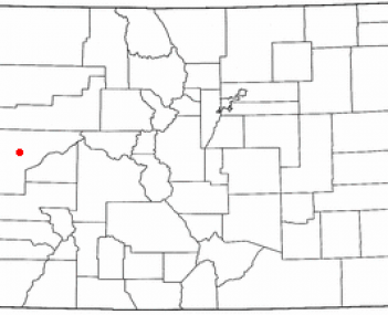 Location of Grand Junction in Colorado