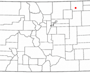 Location of Sterling, Colorado