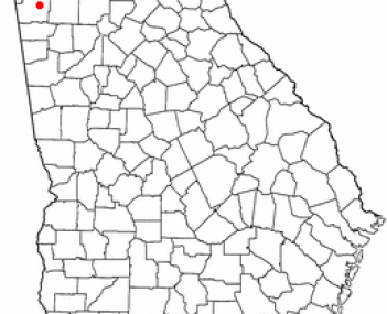 Location of Rome, Georgia
