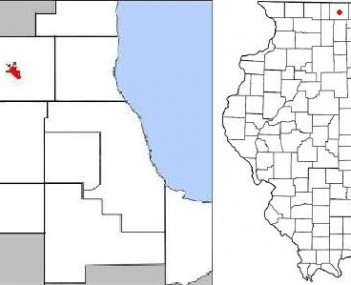 Location of Woodstock within Illinois