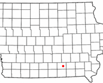 Location of Albia, Iowa