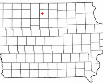Location of Britt, Iowa