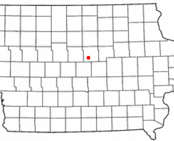 Location of Hubbard, Iowa
