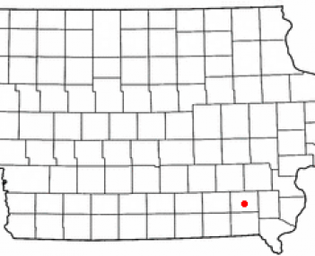 Location of Fairfield, Iowa