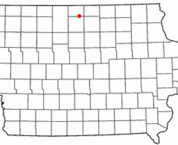 Location of Forest City, Iowa