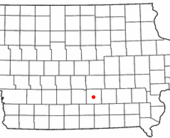 Location of Knoxville, Iowa